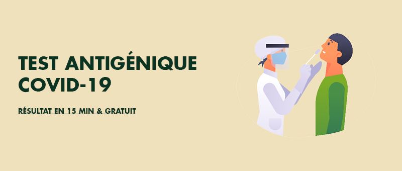 Test Antigénique à la grande pharmacie d'Oullins résultat en 15 minutes et gratuit