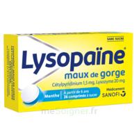 LysopaÏne Comprimés à Sucer Maux De Gorge Sans Sucre 2t/18 à OULLINS
