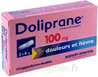 Doliprane 100 Mg Suppositoires Sécables 2plq/5 (10) à OULLINS