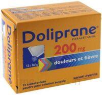 Doliprane 200 Mg Poudre Pour Solution Buvable En Sachet-dose B/12 à OULLINS