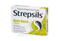 Strepsils Citron Sans Sucre, Pastille édulcorée à L'isomalt, Au Maltitol Et à La Saccharine Sodique à OULLINS