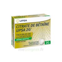 Citrate De Bétaïne Upsa 2 G Comprimés Effervescents Sans Sucre Menthe édulcoré à La Saccharine Sodique T/20 à OULLINS