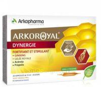 Arkoroyal Dynergie Ginseng Gelée Royale Propolis Solution Buvable 20 Ampoules/10ml à OULLINS