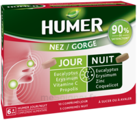 Humer Nez/gorge Jour&nuit 15 Comprimés à OULLINS