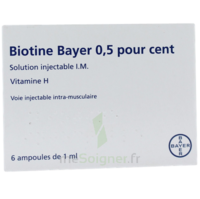 Biotine Bayer 0,5 Pour Cent, Solution Injectable I.m. à OULLINS