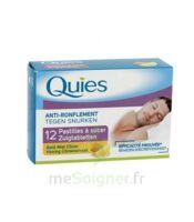 Quies Past à Sucer Anti-ronflement Miel Citron B/12 à OULLINS
