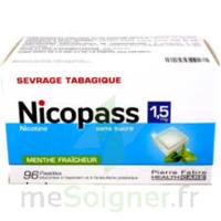 Nicopass 1,5 Mg Pastille Sans Sucre Menthe Fraîcheur Plq/96 à OULLINS