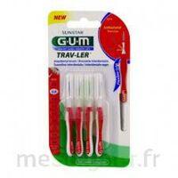 Gum Trav - Ler, 0,8 Mm, Manche Rouge , Blister 4 à OULLINS