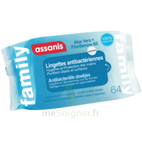 Assanis Family Lingette Antibactérien Mains Pochette/64 à OULLINS