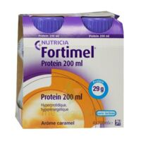 Fortimel Protein Nutriment Caramel 4 Bouteilles/200ml à OULLINS