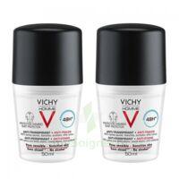 Vichy Homme Déodorant Anti-transpirant Anti Trace 48h 2*billes/50ml à OULLINS