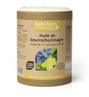 Nat&form Eco Responsable Huile De Bourrache+onagre Bio+vitamine E Caps B/120 à OULLINS