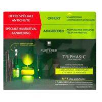 René Furterer Triphasic Progressive Sérum Antichute Coffret 8 Flacons X 5,5ml + Shampoing Stimulant 100 Ml à OULLINS