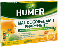 Humer Pharyngite Pastille Mal De Gorge Miel Citron B/20 à OULLINS
